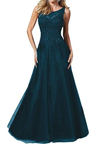 mia Tinte schwarz Abendkleider Hundkragen Blau lang Spitze Brautmutterkleider Etuikleider Formal La Braut Festlichkleider HnqBfSq1