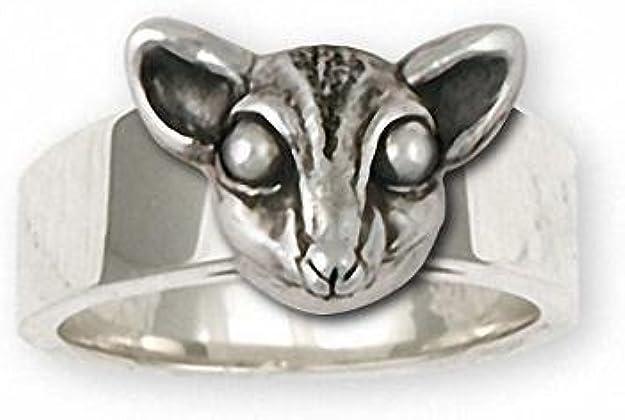 Sugar Glider Jewelry Sterling Silver Sugar Glider Ring Handmade Sugar Glider Jewelry SG6-CR