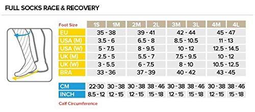 1M Compressport Calcetines Full Socks Race Recovery FW Blanco Rojo