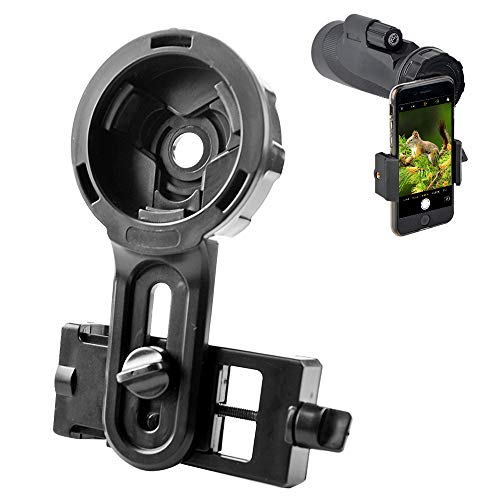 Spotting Scope Universal Phone Mount-Support Monocular Binoculars Spotting Scopes Eyepiece Diameter 24-47mm- Compatible with Smartphone Width 55-102mm Almost All Models of Mobilephones on The Market