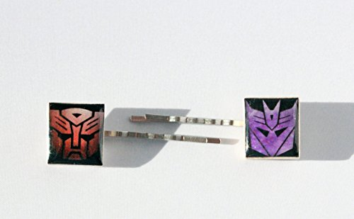 (Autobots & Decepticons Inspired Scrabble Tile Bobby Pins - Transformers Inspired)
