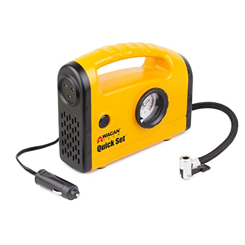 Wagan Yellow EL7301 Quick Set Compact Air Compressor/Inflator