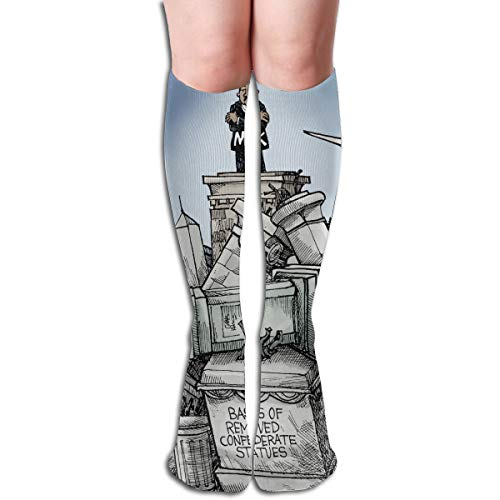 NBteach Martin Luther King Jr MLK Day Themed Clothing Apparel Leg Mid Tall Long Tube Knee High Calf Stocking Costume Clothes Dresses Hi Female Ladies Women Girl Teen Youth Hosiery Socks ()