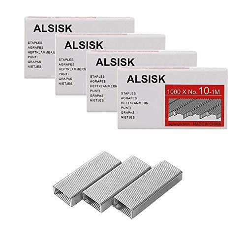 Alsisk Pack of 4000PCS No.10 Mini Staples(Smaller Than Standard Staples) .Silver ()