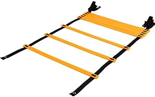 YLOVOW Peldaños Deportivos Escalera de Agilidad de Velocidad Ajustable con Bolsa de Transporte Libre Escalera de Entrenamiento de fútbol Escalera ágil Escalera de Salto de Agilidad,3meters4knots: Amazon.es: Deportes y aire libre