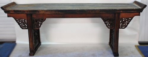 Lovely RB1014X Large Carved Antique Chinese Altar Table, Early 1800u0027s, Shanxi  Province China, Northern Elm: Amazon.co.uk: Kitchen U0026 Home