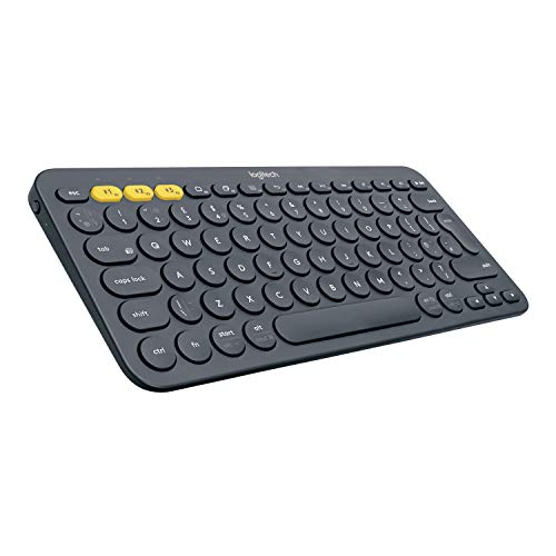 Logitech K380 Multi-Device Bluetooth Keyboard - Windows, Mac, Chrome OS, Android, iPad, iPhone, Apple TV Compatible - with FLOW Cross-Computer Control and Easy-Switch up to 3 Devices - Dark Grey