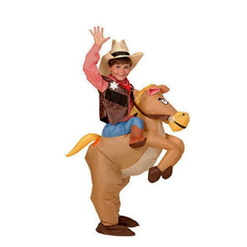 40 To 50 Inch Tall Kids Gift Animal Costume Inflatable Cowboy Ride Horse (Ride A Horse Costume)