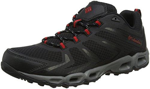 Columbia Ventralia 3 Low, Zapatillas de Senderismo para Hombre Negro (Black / Mountain Red 010)