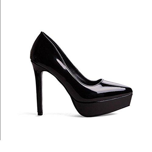 Escarpins Noir Aiguille Pointu Talons Chaussure Escarpin Hauts Plateforme Inconnu Femmes Travail Bureau Pumps d7nwX
