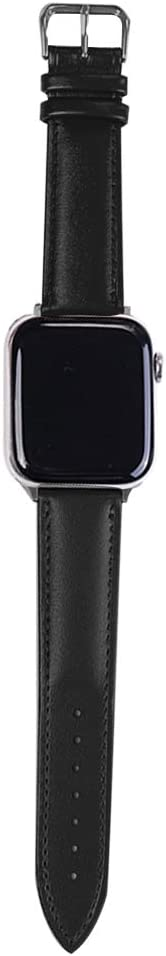 Y3PKZI is Compatible with Apple Watch Straps, Suitable for Series SE/6/5/4/3/2/1 38mm 40mm 42mm 44mm Women's and Men's Business Fashion High-End Leather Smart Straps (Black, 38/40mm)