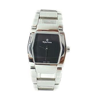 Uhr Wyler Zugspitze Silver e3335 W Quarz (Batterie) Stahl Quandrante schwarz Armband Stahl