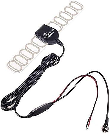 Amplificador de la señal de la antena de radio FM, para TV digital, analógica de coche, TV DVBT ATSC ISDB, amplificador para estéreo, reproductor de ...