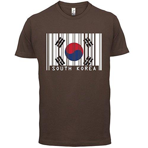 South Korea / Südkorea Barcode Flagge - Herren T-Shirt - Schokobraun - L