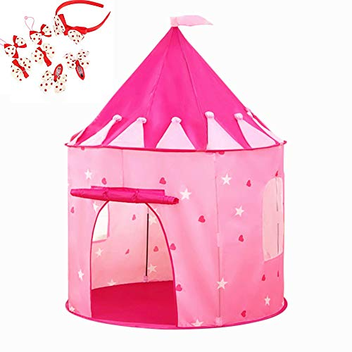 PLAY 10 Kids Tent for Princess Pop up Castle Tent for Indoor and Outdoor Fun,Neatly Folds into a Carrying Bag