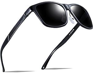 ATTCL Men's Hot Retro Metal Frame Driving Polarized Wayfarer Sunglasses Al-Mg Metal Frame Ultra Light