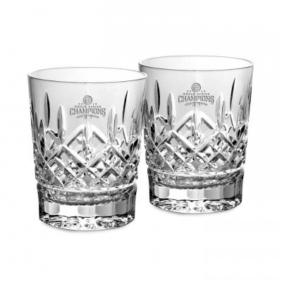 Waterford 2016 World Series Chicago Cubs Championship Lismore Double Old Fashioned, Pair