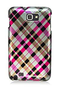 Samsung Galaxy Note (USA AT&T Version i717) Graphic Case - Pink Plaid (Package include a HandHelditems Sketch Stylus Pen)
