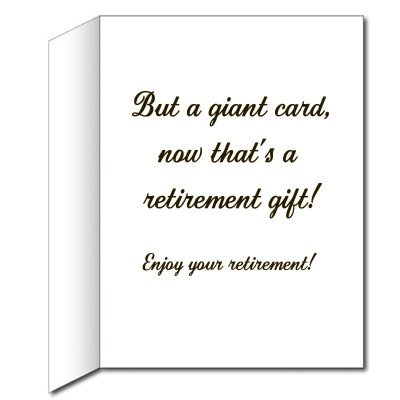Amazon victorystore jumbo greeting cards giant retirement gift amazon victorystore jumbo greeting cards giant retirement gift card watch 3 x 4 card with envelope kitchen dining m4hsunfo Gallery