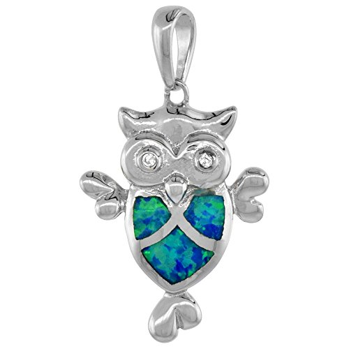 Sterling Silver Pendant Synthetic Inlay