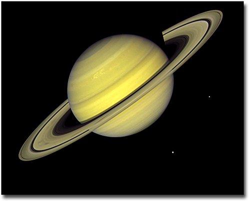 Planet Saturn Voyager 1 Silver Halide Photo Print