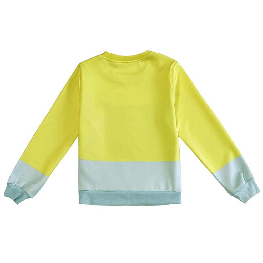 Kids Boys Girls Cartoon Sweatshirt Little cat Logo Pullover Sweatshirt