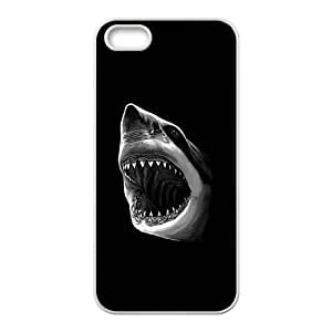 iPhone 5 5s Cell Phone Case White Great White Shark Attack WHB Unique Phone Case Clear