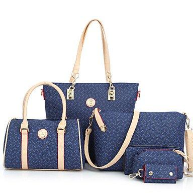 Las mujeres de moda clásica bolsa Crossbody,azul claro Blue