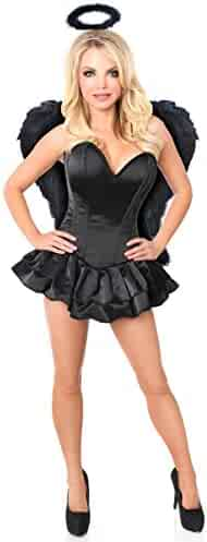7d72299d8 Daisy Corsets Women s Top Drawer Plus Size Angel of Darkness Costume