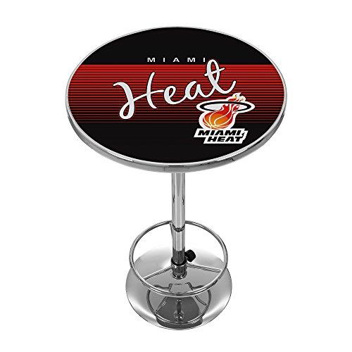 NBA Miami Heat Chrome Pub Table, One Size, Chrome (Cheap Miami Furniture)