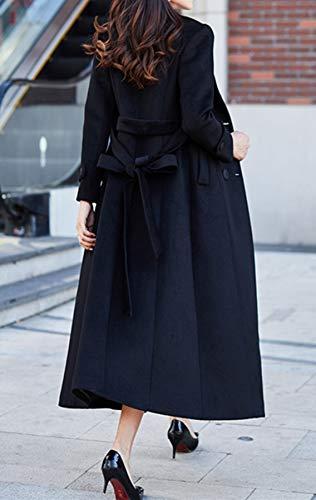 Black Manteau Plaer Plaer Femme Manteau nwB7R0xqn1