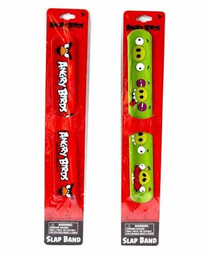 SOLD in 12 Pieces - New Angry Birds Slap Bracelets Bands Toys Perfect for Birthday Party Favor Goodie bags - WONDERS SHOP -