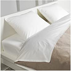 ikea dvala 4 piece full white sheet set 100 cotton - Brusali Bed Frame Review