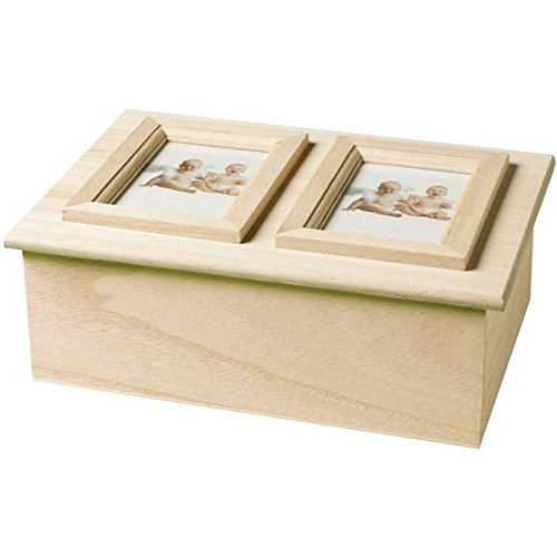 Plaidcraft Wood Memory Box Wdouble Picture Frame 925x65x333