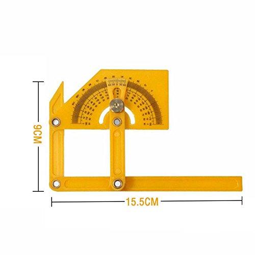 Nankod 3pcs//set Plastic 360 Degree Goniometer Angle Protractor Ruler Measure Medical