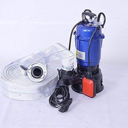 """Schmutzwasserpumpe Fäkalienpumpe Schneidmesser 1100W mit 20m Gummischlauch 2/"""""""