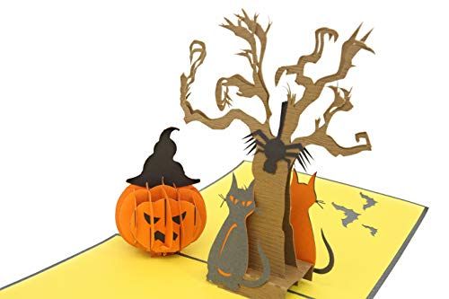PopLife Trick or Treat Halloween Pop Up Card, 3D Cards - Dia de los muertos Party Favor]()