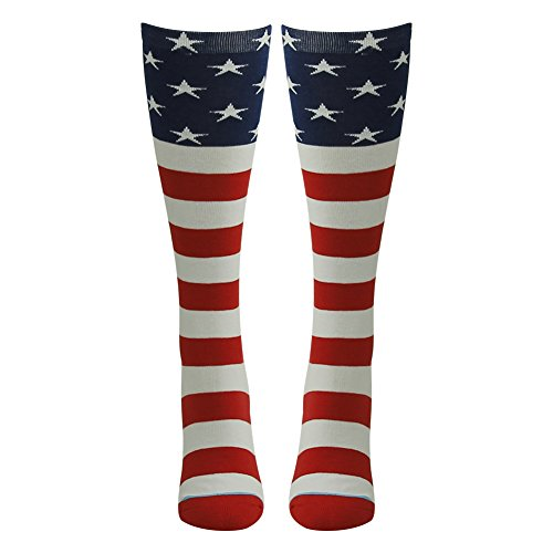 Adult Novelty Socks, Gmark Women's USA Flag Socks-Independence Day-Stars&Stripes Design-Celebrate America - Woman Usa