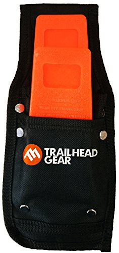 Trailhead Gear Black Durable Tree Felling Bucking Wedge Belt Pouch Holdster Kit complete with Two Orange Wedges