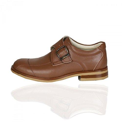 Jungen Schnalle Chukka braune Schuhe Kinder formelle braune Schuhe Hochzeit Schuhe für Kinder Braun