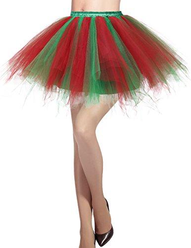 Sottogonna Donna Cocktail Red Tutu Principessa Annata 50 Danza Gonna Tulle Green di Balletti Dresstells Swing p8RqnxPdP