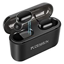 True Wireless Earbuds,Bluetooth Earbuds, Bluetooth 5.0 Headphones, 3D Stereo, Extra Bass, 100+ Hrs Play Time with 2600 mAh Charging Box, IPX5 Waterproof, Siri,Noise Cancelling Earbuds with Mic for iPhone, Android ,Mac and iPad