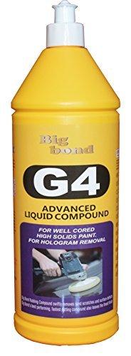 G4 One-Step 3 in1 Advanced Liquid Compound (Rubbing Compound) 1 KG (35 Ounces) Big Bond