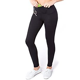 Sport-it Women's High Waisted Yoga Pants with Pockets, Workout Running Leggings Tummy Control, Athletic High Waist…