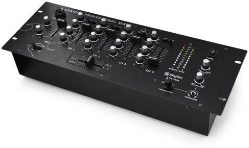 Skytec STM3004 Mesa de Mezclas DJ de 4 Canales(Micrófono, MP3 ...