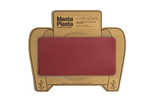 MastaPlasta Self-Adhesive Patch for Leather and Vinyl Repair, Large, Red - 8 x 4 Inch - Multiple Colors Available