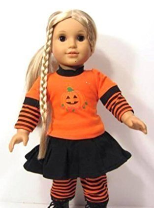 Unique Doll Clothing Pumpkin Halloween Outfit Baby-Doll-Accessories ()