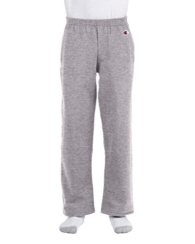 Hanes P890 Youth Double Dry Action Fleece Open Bottom Pant,