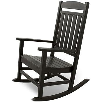 Beau Ivy Terrace IVR100BL Classics Rocker Chair, Black