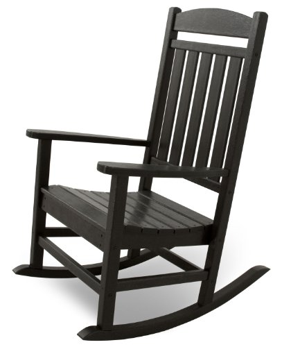 Ivy Terrace IVR100BL Classics Rocker Chair, Black (Black Outdoor Rocking Chair compare prices)